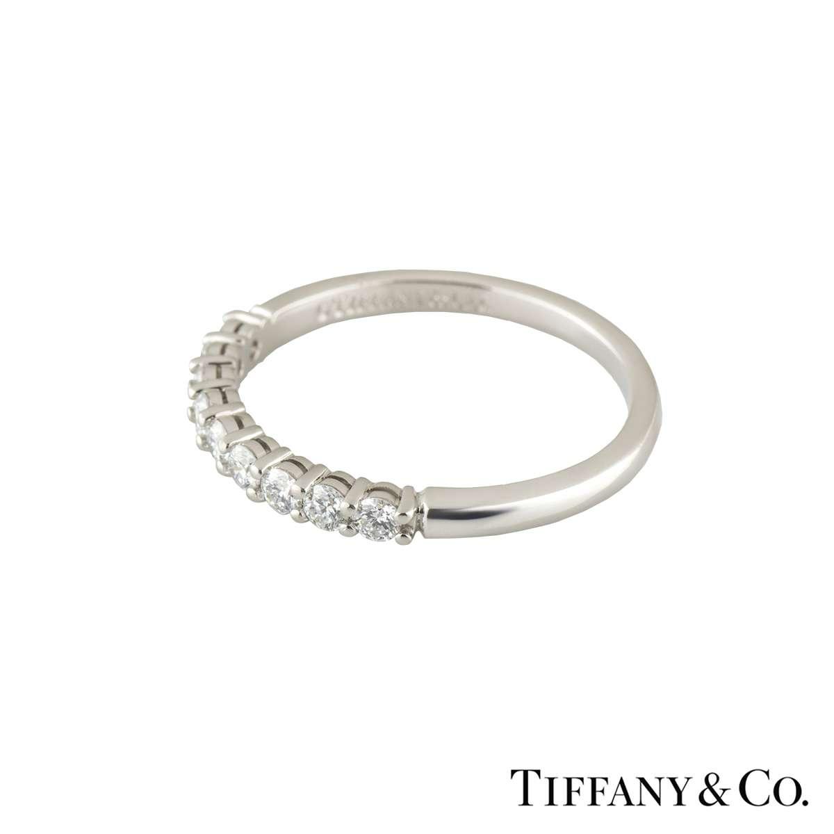 Tiffany Co Platinum Lucida 2mm Wedding Band Ring Sz 8: Tiffany Embrace Ring